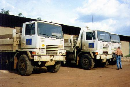 IRC's four wheel drive Bedford trucks