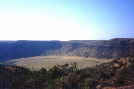 Meteor crater near Marsabit