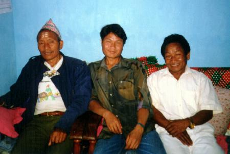 Khogen Pun with father & uncle