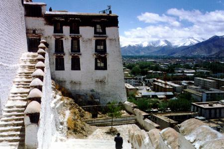 One of the Potala's great staircases