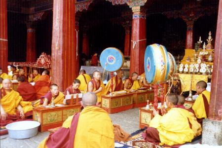 Orchestra in Jokhang temple