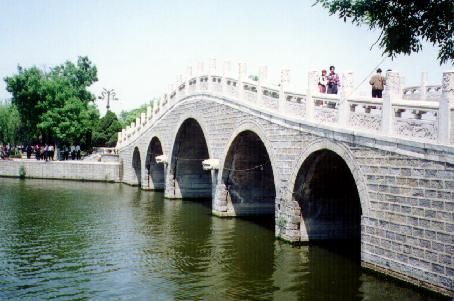 Bridge between Yangjia and Panjia Lakes