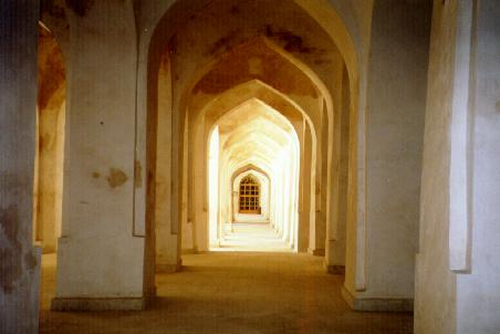 Arches inside the mosque